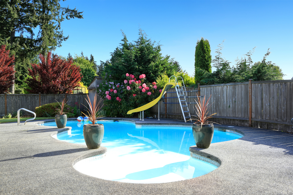Example of in-ground swimming pool that could be installed by Preston Greenhouse